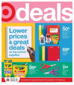 Link to Target's weekly ad for back to school savings
