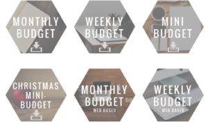 Monthly, weekly, and mini budgets to help people with paying bills