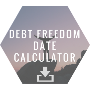 Image and link to debt freedom date calculator