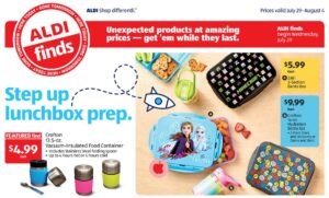 Link to Aldi's weekly specials to save on back to school supplies